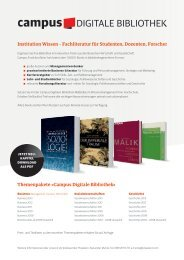 Themenpakete »Campus Digitale Bibliothek« Institution Wissen ...