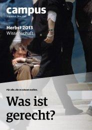 Herbst 2013 Wissenschaft - Campus Verlag