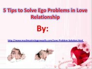 5 Tips to Solve Ego Problems in Love Relationship