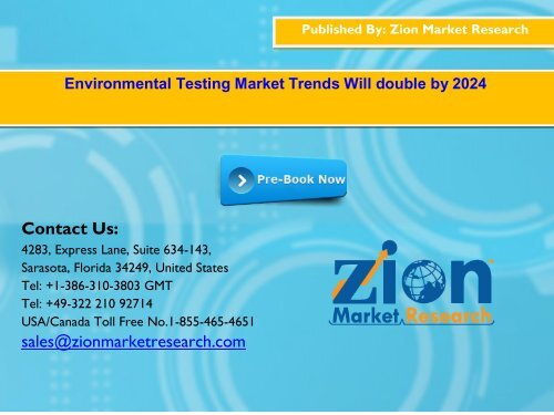Global Environmental Testing Market, 2016–2024