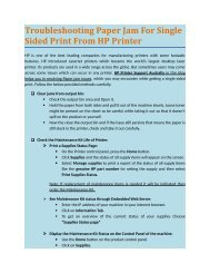 Troubleshooting Paper Jam For Single Sided Print From HP Printer