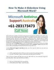 How to make a slideshow using Microsoft word (1)