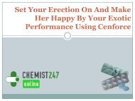 Use Cenforce To Get Long And Hard Erection
