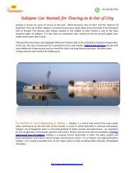 Udaipur Car Rentals for Touring -pdf