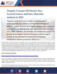 Organic Coconut Oil Market Size, Growth Factors and Raw Materials Analysis to 2021