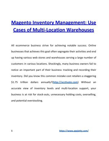 Magento Inventory Management_ Use Cases of Multi-Location Warehouses