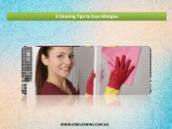 3 Cleaning Tips to Ease Allergies