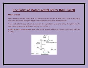 Mns Mcc Low Voltage Motor Control Center Application Guide