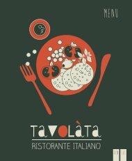 20171122 Tavolàta menu, Silja Symphony & Silja Serenade