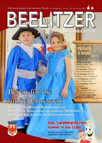 Beelitzer Nachrichten - November 2017