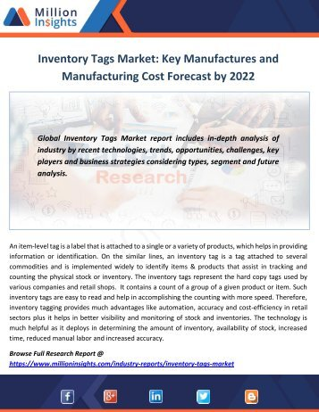 Inventory Tags Market Report 2017-2022