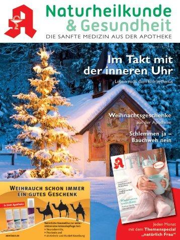 """Leseprobe  """"Naturheilkunde&Gesundheit"""" Dezember 2017"""