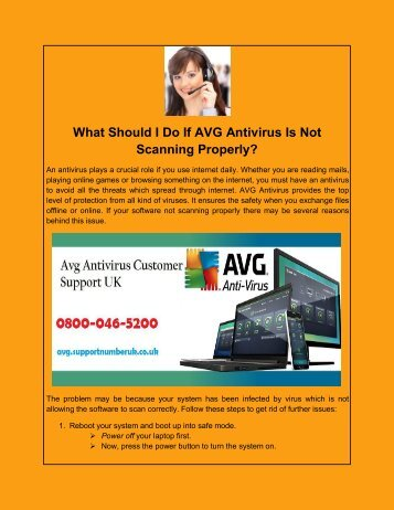 What Should I Do If AVG Antivirus Is Not Scanning Properly