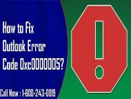 18002430019 |How To Fix Outlook Error Code 0xc0000005?