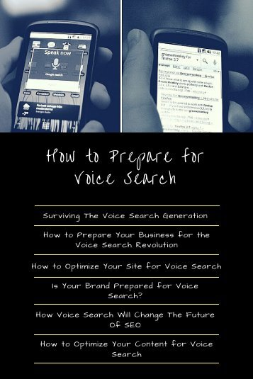 How to Prepare for Voice Search