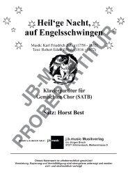 Heil'ge Nacht auf Engelsschwingen SATB (Klavier-Begleitung)