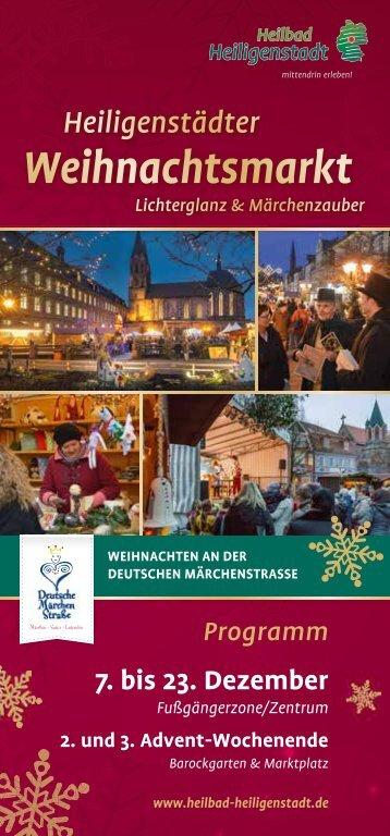 Weihnachtsmarkt Heilbad Heiligenstadt Programm 2017