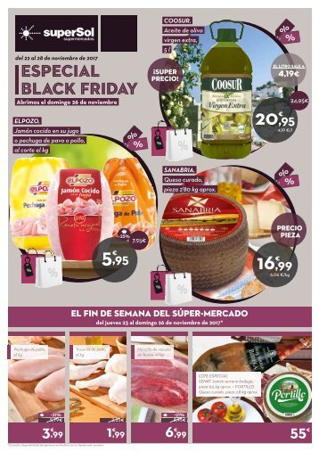 Folleto superSol supermercados ESPECIAL BLACK FRIDAY del 22 al 28 de Noviembre 2017