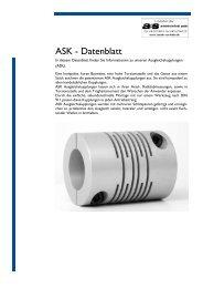 Datenblatt Ausgleichskupplungen ASK PDF-Datei 404,0 kB