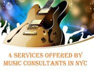 4 Services offered by Music Consultants in NYC