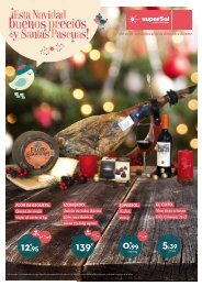 Folleto superSol supermercados ¡Esta Navidad buenos precios y Santas Pascuas!