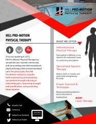 Hill ProMotion PT Infographic