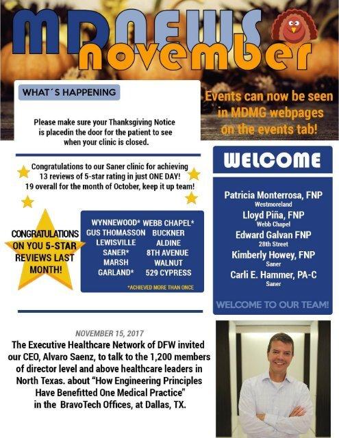 MD Newsletter November