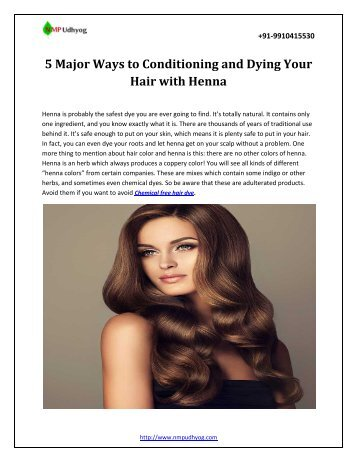 5 Major Ways to Conditioning and Dying Your Hair with Henna.output