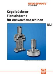 15.1 Kegelbüchsen- Flanschdorne für ... - RINGSPANN