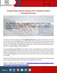 Triethyl Citrate Market Analysis 2017  Market Growth & Dynamics Forecast