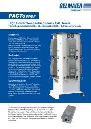 Technische Daten PACTower - BAUER Solarenergie GmbH