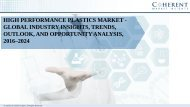 High Performance Plastics Market - Global Industry Insights, Trends, Outlook, and Opportunity Analysis, 2016–2024