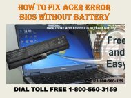 18005603159 How To Fix Acer Error BIOS Without Battery