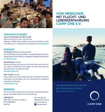 Flyer_Camp-One
