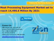 Global Meat Processing Equipment Market, 2016 – 2021