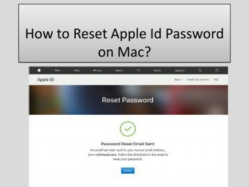 1-833-493-0111 How to Reset Apple Id Password on Mac