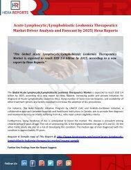 Acute LymphocyticLymphoblastic Leukemia Therapeutics Market Driver Analysis and Forecast by 2025 Hexa Reports