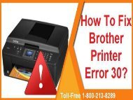 How To Fix Brother Printer Error 30