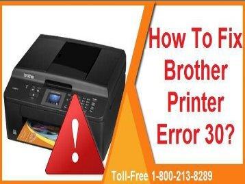 How To Fix Brother Printer Error 30