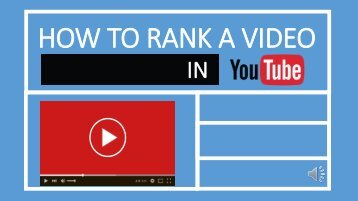 Ranking In Youtube