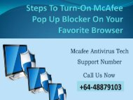 Steps To Turn-On McAfee Pop Up Blocker On