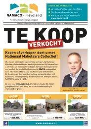 NAMACO Flevoland Woonmagazine, uitgave december 2017