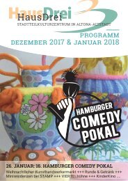 HausDrei Programm Dezember17/ Januar18