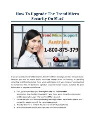 How to upgrade the Trend Micro security on Mac?
