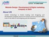 Best Website Design & Development Company in Delhi, India
