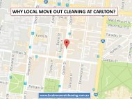 Why Local Move Out Cleaning At Carlton?