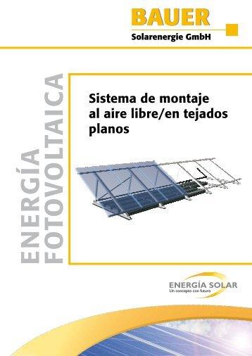 ALFLACH Freiland/Flachdach - BAUER Solarenergie GmbH
