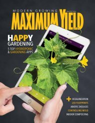 Maximum Yield Modern Growing | USA Edition | May 2017
