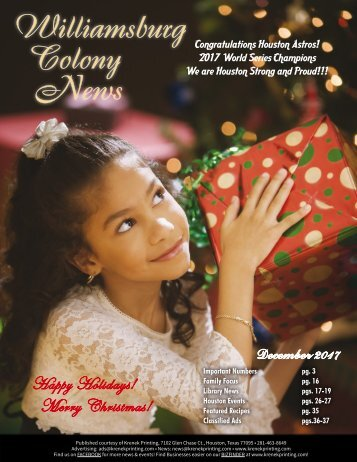 Williamsburg Colony December 2017