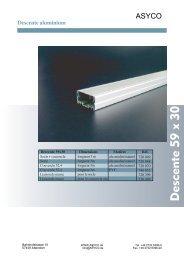Descente aluminium